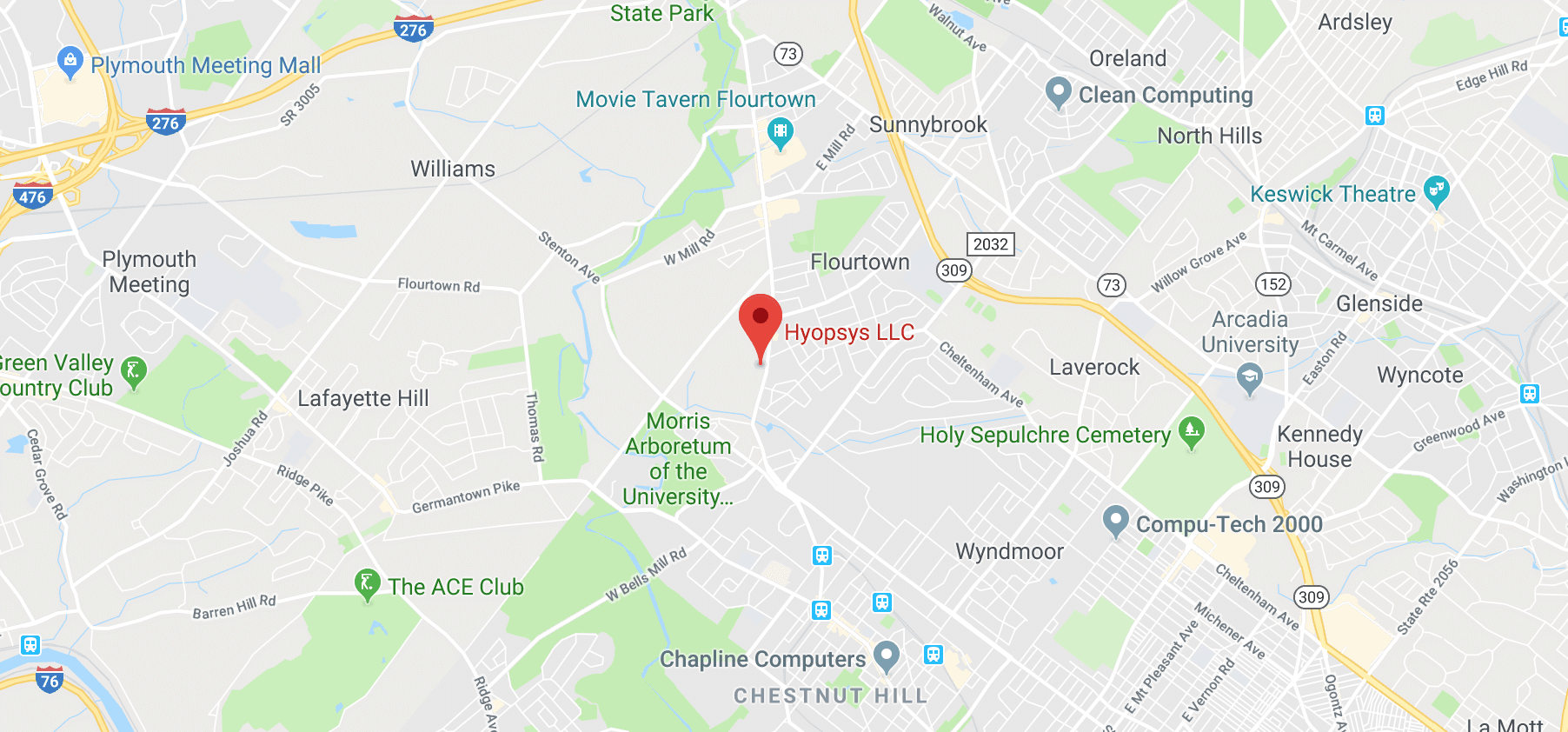 Google Maps With Hyopsys LLC Location Marker